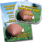 Football bash theme invitations and favors